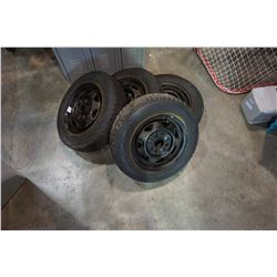 SET OF 4 P 155/80 R13 TIRES ON RIMS