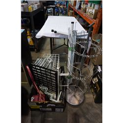 LOT OF RETAIL DISPLAY RACKS
