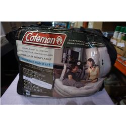 COLEMAN DOUBLE HIGH PILLOW TOP AIR MATTRESS QUEENSIZE