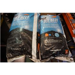 2 BAGS OF JET BLUE ICE MELTER