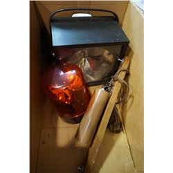 STROBE LAMP, RED WARNING LIGHT AND TEAK LAMP