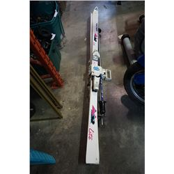 FISCHER CARBON LITE SKIS, POLES, AND BINDINGS
