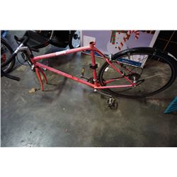 PINK SPECIALIZED BIKE, NO FRONT WHEEL