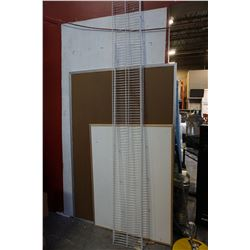 WHITE 7 FOOT PLUS WIRE SHELVING