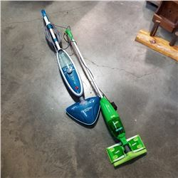 SWIFFER VACUUM AND HOOVER STEAM MOP