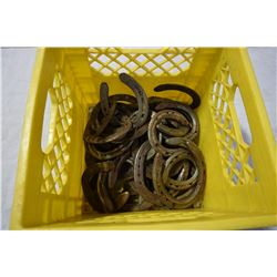 CRATE OF HORSESHOES