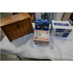 GLACIER BAY FAUCET MOTION ACTIVATED LIGHT AND WOOD BOX AND LEVERSET