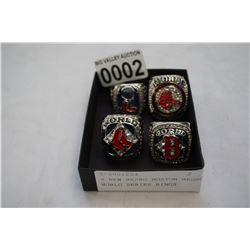 4 NEW REPRO BOSTON REDSOX WORLD SERIES RINGS