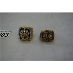 2 NEW REPRO PITTSBURGH STEELERS SUPERBOWL RINGS