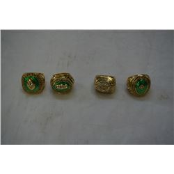 4 NEW REPRO GREENBAY PACKERS SUPERBOWL RINGS