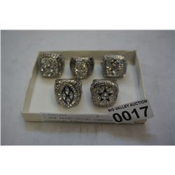 5 NEW REPRO DALLAS COWBOYS SUPERBOWL RINGS