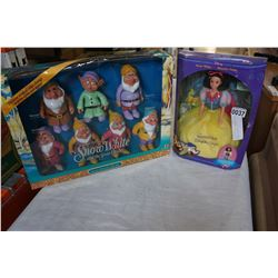 SNOW WHITE AND 7 DWARVES DOLLS DISNEY IN BOX