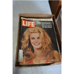 BOX OF VINTAGE LIFE MAGAZINES