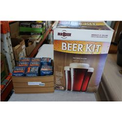 MR BEER BREWING KIT, SAMUEL ADAMS PINT GLASSES
