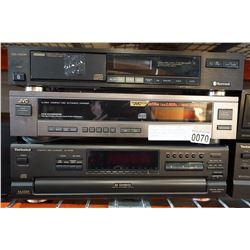SHERWOOD CD-1160R, TECHNICS SL-PD788, AND JVC XL-R204 CD PLAYERS