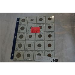CANADIAN COINS 1c TO 25c 1949 TO 1953 ALL COINS 10 AND 25c ARE .800 SILVER