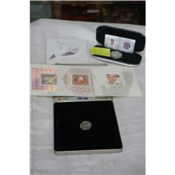 2001 DENNIS POTWIN COIN AND STAMP SET PLUS 1999-2000 OFFICIAL MILLENIUM COIN AND STAMP SET