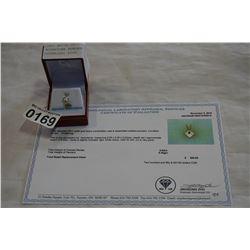 14KT WHITE GOLD 5x5mm GENUINE MOONSTONE PENDANT .52CT W/ APPRAISAL $250