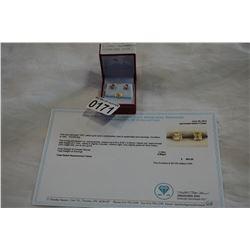 10KT YELLOW GOLD 5x5mm GENUINE 1.1CTS AQUAMARINE EARRINGS W/ APPRAISAL $500