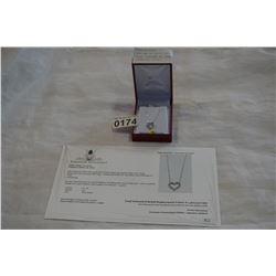 14KT WHITE GOLD .30CT DIAMOND HEART PENDANT W/ CHAIN W/ APPRAISAL $1420