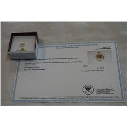 10KT YELLOW GOLD 6mm GENUINE CULTURE PEARL PENDANT W/ APPRAISAL $500