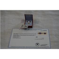 10KT YELLOW GOLD 5x5mm GENUINE 1.28CT AMETHYST EARRINGS W/ APPRAISAL $400