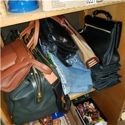 6 PAIRS OF NEW JEANS AND LOT OF NEW HANDBAGS