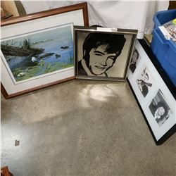 LEP SPRING DUCK PRINT, ELVIS, AND MUSICIAN PRINT