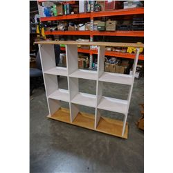 MAPLE AND WHITE 4FT CUBICAL SHELF