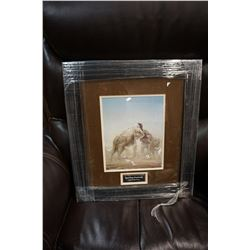 SIGNED IN GOLD INK ROBERT BATEMAN SPARRING ELEPHANTS PRINT