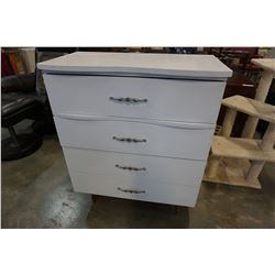 PAINTED WHITE 4 DRAWER DRESSER