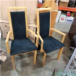2 MODERN MAPLE ACCENT CHAIRS