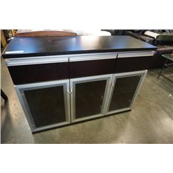 MODERN 3 DRAWER GLASS DOOR SERVER