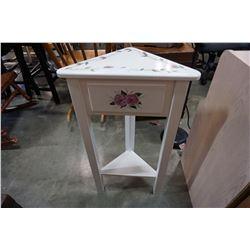 WHITE CORNER END TABLE