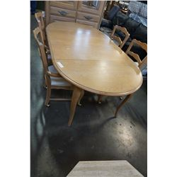 ROUND WOOD DINING TABLE W/ 4 CHAIRS