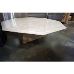 MARBLE OCTOGON COFFEE TABLE