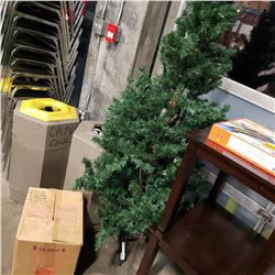 PRELIT CHRISTMAS TREE AND BOX OF CHRISTMAS DECOR