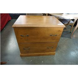 2 DRAWER MAPLE FILING CABINET