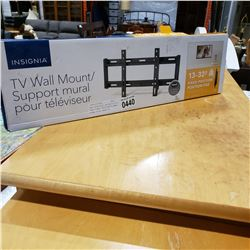 NEW OVERSTOCK INSIGNIA13-32 INCH FIXED POSITION TV WALL MOUNT 40LB CAPACITY