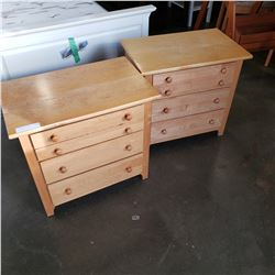 PAIR OF MAPLE STANLEY 3 DRAWER NIGHT STAND