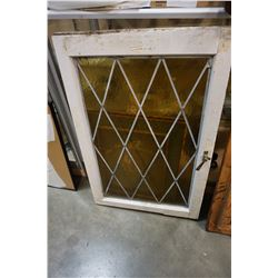 2 x 3 FT LEADED GLASS WINDOW