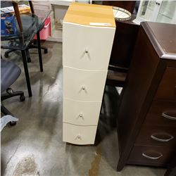 MODERN 4 DRAWER CHEST OF DRAWERS BOWED FRONT