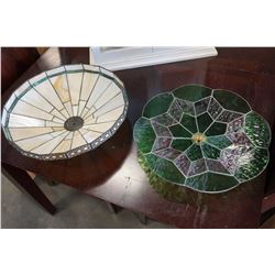 2 STAINED GLASS SHADES