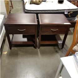 PAIR OF MODERN 1 DRAWER END TABLES