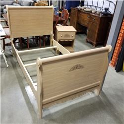 SINGLE SIZE BEDFRAME AND 1 DRAWER NIGHTSTAND