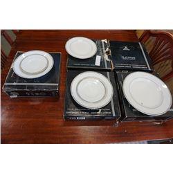 5 ROYAL DOULTON PLATINUM 4PC DISH SETS - 5 PLACE SETTINGS