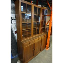 MAPLE AND CO 2PC VINTAGE CHINA CABINET