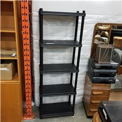 5 TIER BLACK PLASTIC SHELF