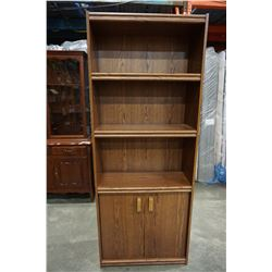 OAK 6FT BOOK SHELF