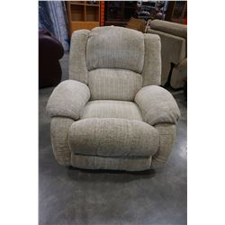 BEIGE FABRIC RECLINER CHAIR